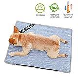 meetgre Kühlmatte für Haustiere, Doppelnutzung, Kühlmatte für Kühlbett, Bambus, EIS-Matte, Wärmeableitung, selbstkühlend, für kleine und mittelgroße Hunde