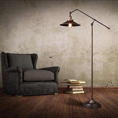 Get JiaYouJia Adjustable Arm Industrial Vintage Style Floor Lamp, Black Reviews