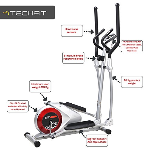 Techfit-E310-EVO-Elliptical-Bike-Cross-Trainer-for-Home-Weight-Loss-Machine-for-Cardio-and-Fitness-Exercises-Magnetic-Resistance-Device-Fit-for-Indoor-Spaces