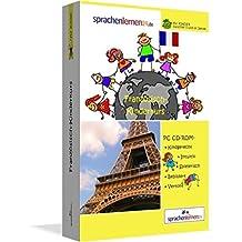 Französisch-Kindersprachkurs von Sprachenlernen24: Kindgerecht bebildert und vertont für ein spielerisches Französischlernen. Ab 5 Jahren. PC CD-ROM für Windows 10,8,7,Vista,XP / Linux / Mac OS X