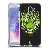 Head Case Designs Wild Bengal Tiger Headcase Jahrestag Mix Soft Gel Hülle für Samsung Galaxy J4 (2018)