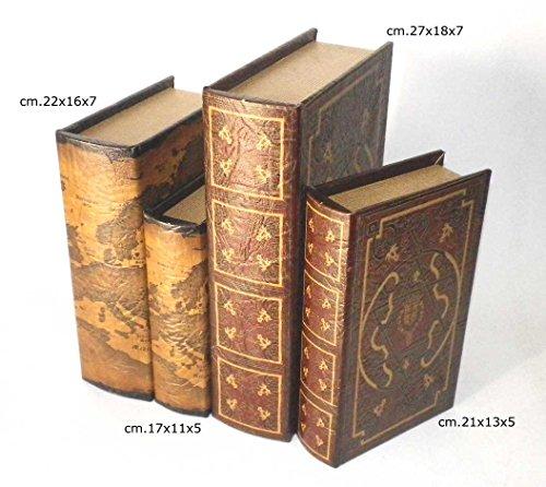 Finti Libri Da Biblioteca Libreria Coppia Libri Cofanetti Finto