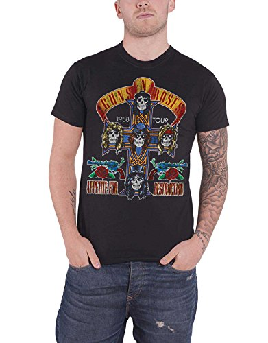Guns N Roses Shirt NJ Summer Jam 1988 Vintage Logo Official Mens Black