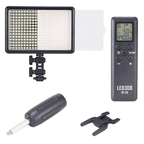 Bestlight LED308C 308 Stk. Dimmbare LED mit Ultra Hohe Leistung Video Licht Videoleuchte Eingebauter LCD-Panel für Nikon, Canon, Pentax, Sony, Panasonic, Samsung, Olympus und andere digitale DSLR-Kameras Camcorder