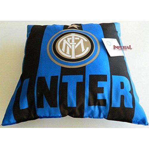 Original FC Inter Mailand Milano Plüsch-Deko-Kissen 42x42 cm Plüschkissen NEU 2014 OVP