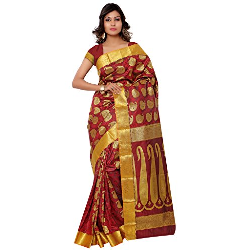 Varkala Silk Sarees Silk Saree With Blouse Piece (Ss3110Rd -Red)