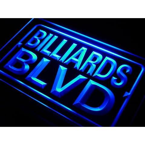 Insegna al neon j057-b Billiards BLVD Display