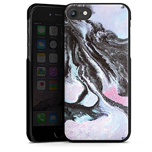 Apple iPhone 6 Silikon Hülle Case Schutzhülle Grunge Muster Perlmutt Hard Case schwarz