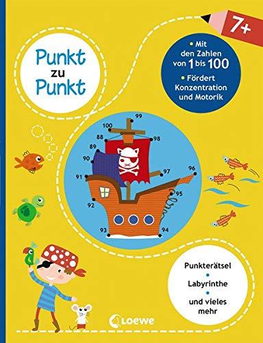 Punkt zu Punkt - Mit den Zahlen von 1 bis 100: Lernspiele für Kinder ab 7 Jahre