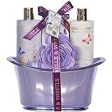 Gloss! Shimmer by Belle and Whistle, Set con 4 prodotti da bagno, incl. cofanetto, colore: Lilla