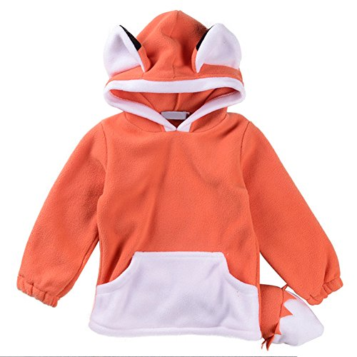 tangbasi® Kleinkind Baby lange Ärmel Hoodie Top Kids Warm Jumper Pullover Halloween Fox Kostüme orange Orange - Top-15-halloween-kostüme
