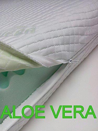 Matratzenbezug (Matratzenbezug Allergikergeeignet mit 4-seitigem Reißverschluss aloevera easy clean, Matratzenschoner , Matratzenbezug alle Größen alle Höhe, (90 x 200 cm))
