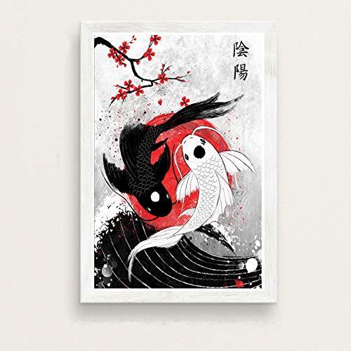 WDQTDW Impresión De La Lona Japón Cultura Arte Arte
