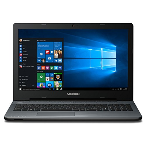 MEDION AKOYA P6667 MD 60816 39,6 cm (15,6 Zoll mattes Full HD Display) Notebook (Intel Core i5-6200U, 8GB RAM, 1TB HDD, NVIDIA GeForce 940MX, DVD, Win 10 Home) silber