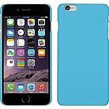 PhoneNatic Case für Apple iPhone 6 Plus / 6s Plus Hülle hellblau gummiert Hard-case für iPhone 6 Plus / 6s Plus + 2 Schutzfolien