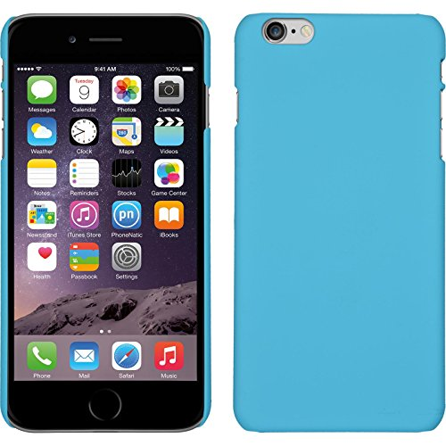 PhoneNatic Case für Apple iPhone 6 Plus / 6s Plus Hülle hellblau gummiert Hard-case für iPhone 6 Plus / 6s Plus + 2 Schutzfolien Hellblau