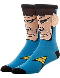 Mens Star Trek Spock Socks with 3D Ears Blue