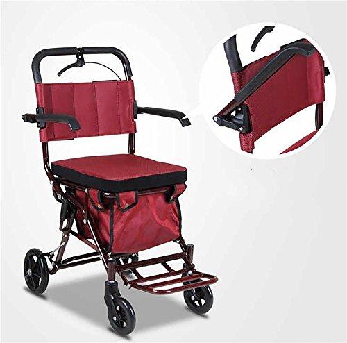 30ae6e441cc HCC  Carrito de compras De lujo Ligero Mayor Walk   Rest plegable Carrito de  equipaje Asiento