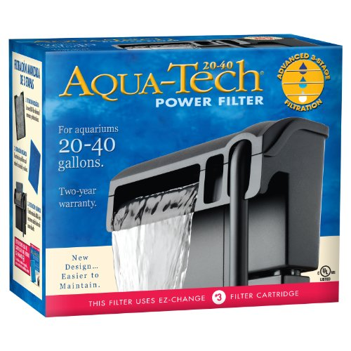 Aqua-Tech Power Aquarium Filter w/Filtration in 3 Schritten, 20 to 40-Gallon (Aquarium 40 Gal)