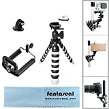 Fantaseal® Mini treppiede per DSLR Camera + mobile + camma di azione 3-in-1 Robusta Octopus Gorillapod Treppiedi flessibile del Treppiedi Treppiedi di corsa portatile Smartphone Cellulare Cavalletto stand selfie culla treppiede per Nikon Canon Pentax Sony DSLR ecc/ videocamera + Iphone 7+ 7 6S+ 6S 6+ 6 5S 5 5C 4S 4 iPhone SE Nexus LG HTC Huawei ZTE + GoPro Hero4 3+ 3 sessione SONY HDR AS-10 15 20 30 50 100 200 FDR X1000VR Garmin virB XE Xiaomi Yi dBpower SJCAM