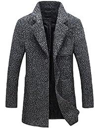 YiJee Grande Taille Classique Single Boutonnage Hommes Manteau D'hiver