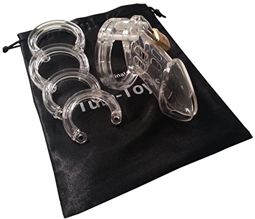 CB-M klar Kunststoff Keuschheitskäfig Peniskäfig Keuschheitsgürtel Penis Käfig für Männer M