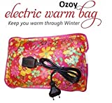 #7: Ozoy Electrothermal Electric Heat Water Bag Pouch Massager Rectangle Shaped Bag For Pain Relief (Random Color)