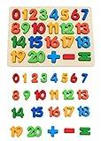 KanCai Puzzle di Legno Bambini Puzzle dei Numeri 1-20 Gioco Per Giocattoli per Bambini