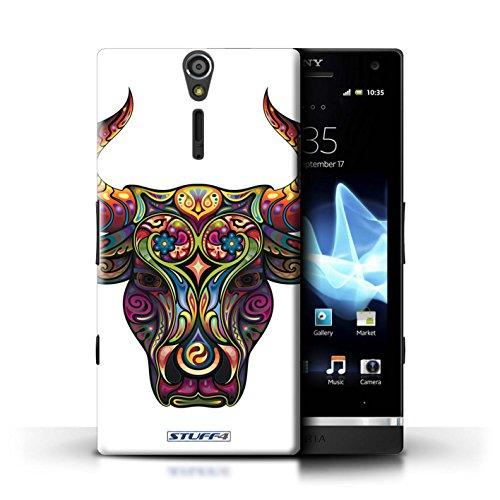 Kobalt® Imprimé Etui / Coque pour Sony Xperia S/LT26i / Chat conception / Série Animaux décoratifs Taureau