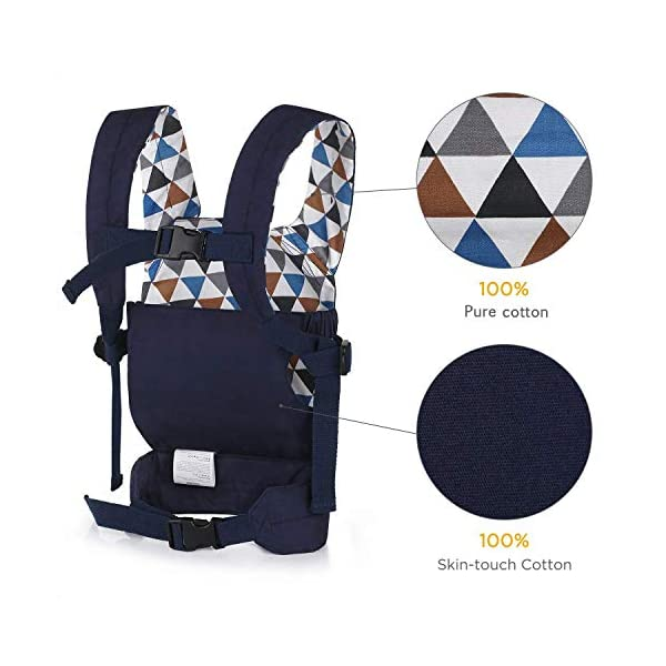 CUBY Dolls Carrier Front and Back Soft Cotton Suitable for Baby Over 18 Months, Fox - Blue (Fox - Blue) CUBY ★100% soft cotton material, gentle to the kids' skin. ★0.18 kg, 5.51 × 9.84 × 12.8 inches (L × W × H); The dimension of dolls should be smaller than 24.8 inches. ★ Padded shoulder and waist straps. 3