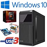 Master-PC AMD FX-4300 (Quad-Core) 4 x 3,80 GHz, 8 GB DDR3, 128 GB SSD SATA3, ATI Radeon HD 3000 Grafik, USB 3.0, HDMI, DVI, VGA, DVD-Brenner, Sound, Gigabit-Lan, Windows 10 Pro.