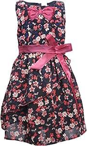 BIO KID Girls' Dress (BTG-627-92, Black, 1-2Y)