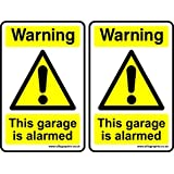 2 x Autocollant attention le Garage is PLAQUE DE PaNNEAU D'AVERTISSEMENT ft 100 x 150 mm-Graphix Ellis