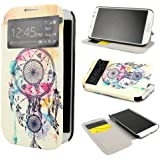 ivencase D44 Painting Art Design PU Cuir Flip Shell Housse Coque Étui Case Cover Pour Samsung Galaxy S4 SIV i9500