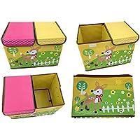 Preisvergleich für Design Spielzeugbox mit Stickerei 48 cm x 31 cm x 38 cm Aufbewahrungsbox Spielzeugtruhe Aufbewahrungstonne Spielzeugkiste Kindermöbel