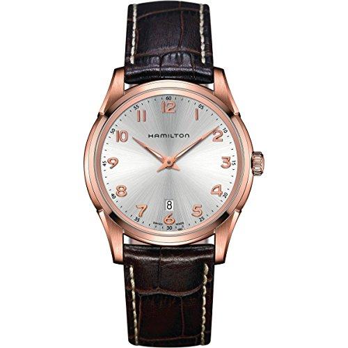 Hamilton Herren Analog Quarz Uhr mit Leder Armband H38541513