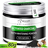 Teeth Whitening Powder,BESTOPE Organic Activated Charcoal Powder,Safe and Natural Tooth Whitener for Teeth Stain Removal