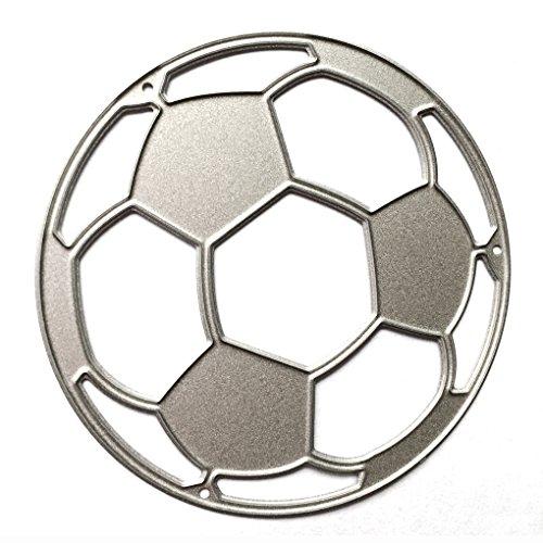 Bomcomi Carbon Steel Schneideisen mit Fußball-Form für Scrapbooking DIY Präge -