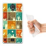 WoowCase Hisense C20 King Kong II 4G Hülle, Handyhülle Silikon für [ Hisense C20 King Kong II 4G ] Ägiptische Symbole 3 Handytasche Handy Cover Case Schutzhülle Flexible TPU - Transparent