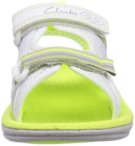 Clarks  Star Games Inf, Sandales pour fille Blanc - Weiß (White Synthetic)