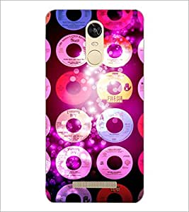 PrintDhaba CDs D-2850 Back Case Cover for XIAOMI REDMI NOTE 3 PRO (Multi-Coloured)