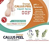 **Instant Callus Removal**ORANGE CALLUS PEEL SPRAY-For Regular Home Use (1 Callus Liquid + Filer) -**Smoothen CALLUSED and ROUGH feet in just 3 minutes**- Imported and Specially formulated for Indian Feet with 99% Natural Ingredients. Suitable for Diabetics Patients- First time in India. Dermatologist and Podiatrist tested.