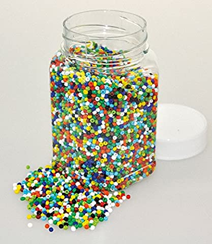 (PBX2470711) - Playbox - Glass Beads in Jar (Basic) - Ï 2 mm - 500g