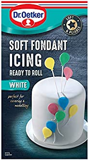 Dr. Oetker Ready to Roll Soft Fondant Icing - White, 454 gm