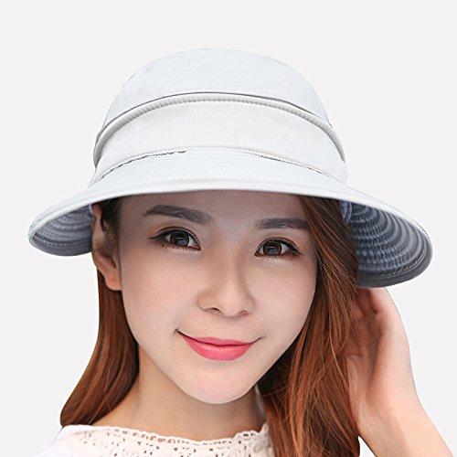 cappello-da-sole-ombra-esterna-sunscreen-hats-korean-air-estate-top-beach-faccia-nera-pac-il-pieghev