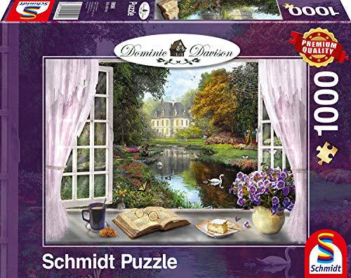 Schmidt Spiele Puzzle 59590Dominic Davison, Vista nel Giardino del Castello, 1000Pezzi