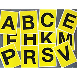 Advanced Printing Black on Yellow Stickers for Dressage Arena Markers 150 x 200mm (12 ABCE FHKM PRSV)