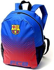 Official Football Merchandise - Mochila ajustable con cremallera, diseño de diferentes equipos., Barcelona FC, 30 x 45 x 15cm (Approx size)
