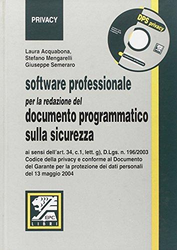 Software professionale per la redazione del documento programmatico sulla sicurezza
