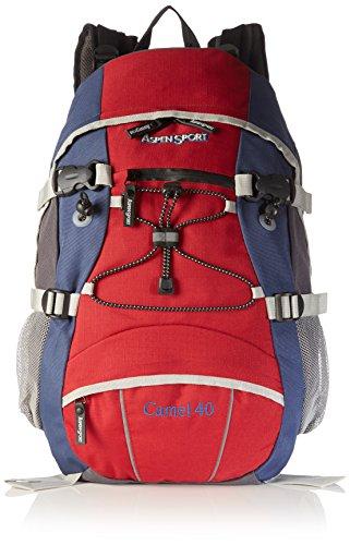 AspenSport AB04R02, zaino da trekking da 40 l rosso